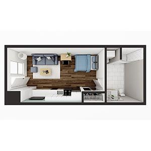Floorplan image for Studio 1