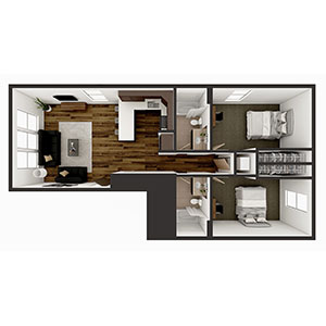 Floorplan image for B1 2x2