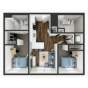 Floorplan image for B3 2x2