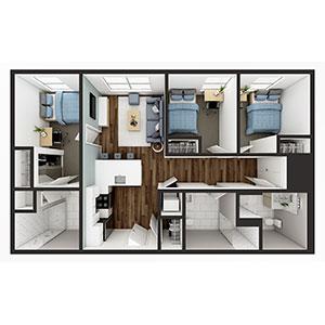 Floorplan image for C1 3x3