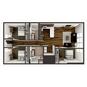 Floorplan image for C1 3x2