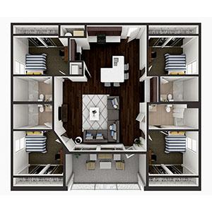 Floorplan image for D1 4x4