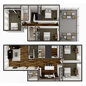 Floorplan image for E2 Townhome 5x4