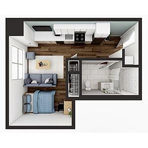 Floorplan image for Studio 2