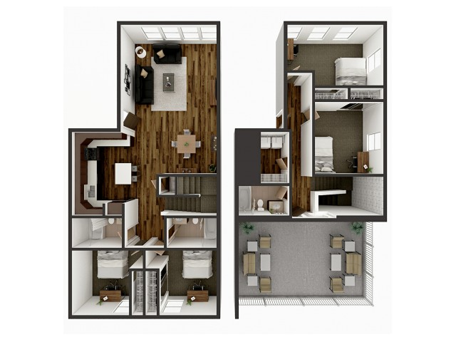 D3 Townhome Floor plan layout