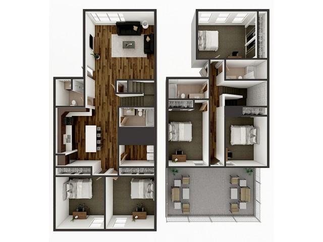E2 Townhome Floor plan layout