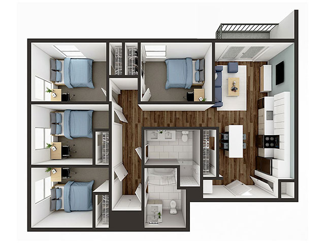 D1 Balcony Floor plan layout