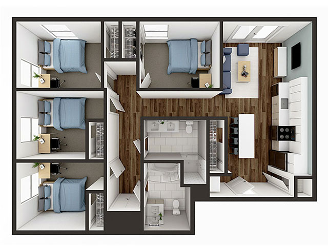 D1 Floor plan layout