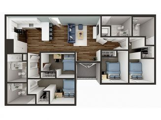 D3 Balcony Floor plan layout