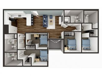 D3 Balcony Floor plan layout